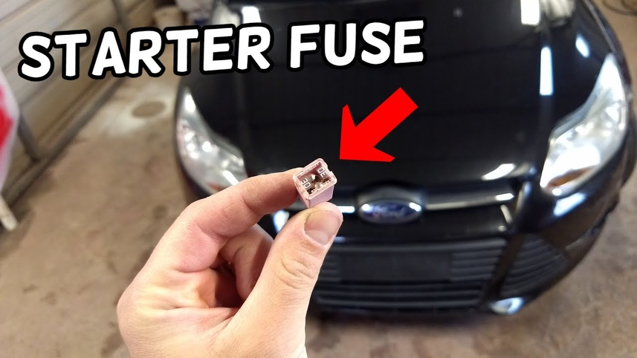 hight resolution of starter fuse location and replacement ford focus mk3 2012 2018