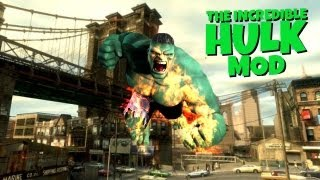 GTA 4: Hulk in GTA! - (Hulk Mod Funny Moments)