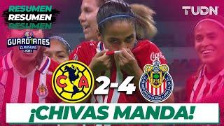 Resumen y goles   América 2-4 Chivas   Torneo Guard1anes 2021 Liga MX Femenil J13   TUDN