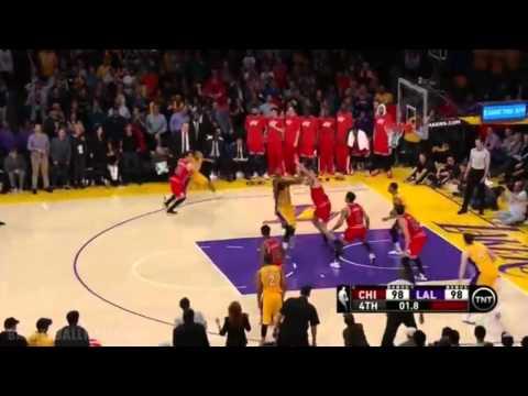 Баскетбол. 2015.01.30 НБА. Лос-Анджелес Лейкерс - Чикаго Буллз. 2 овертайма.