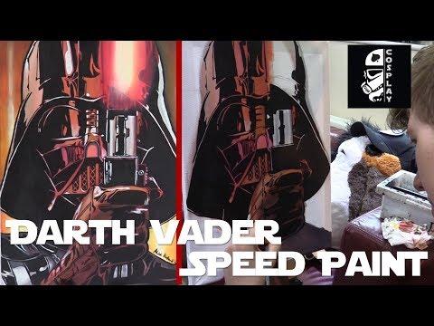 Darth Vader Speed Paint