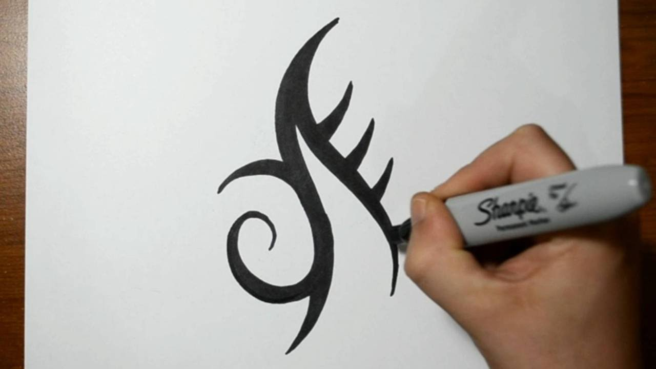 How to Draw a Simple Tribal Mark Tattoo Design