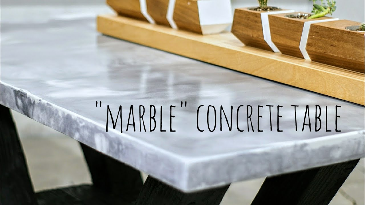 Diy Quot Marble Quot Concrete Table W Shou Sugi Ban Base Youtube