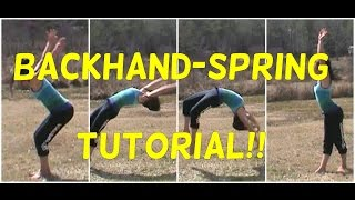 how to do a back handspring and round off back handspring   gymnastics tutorial   gymnastics 101