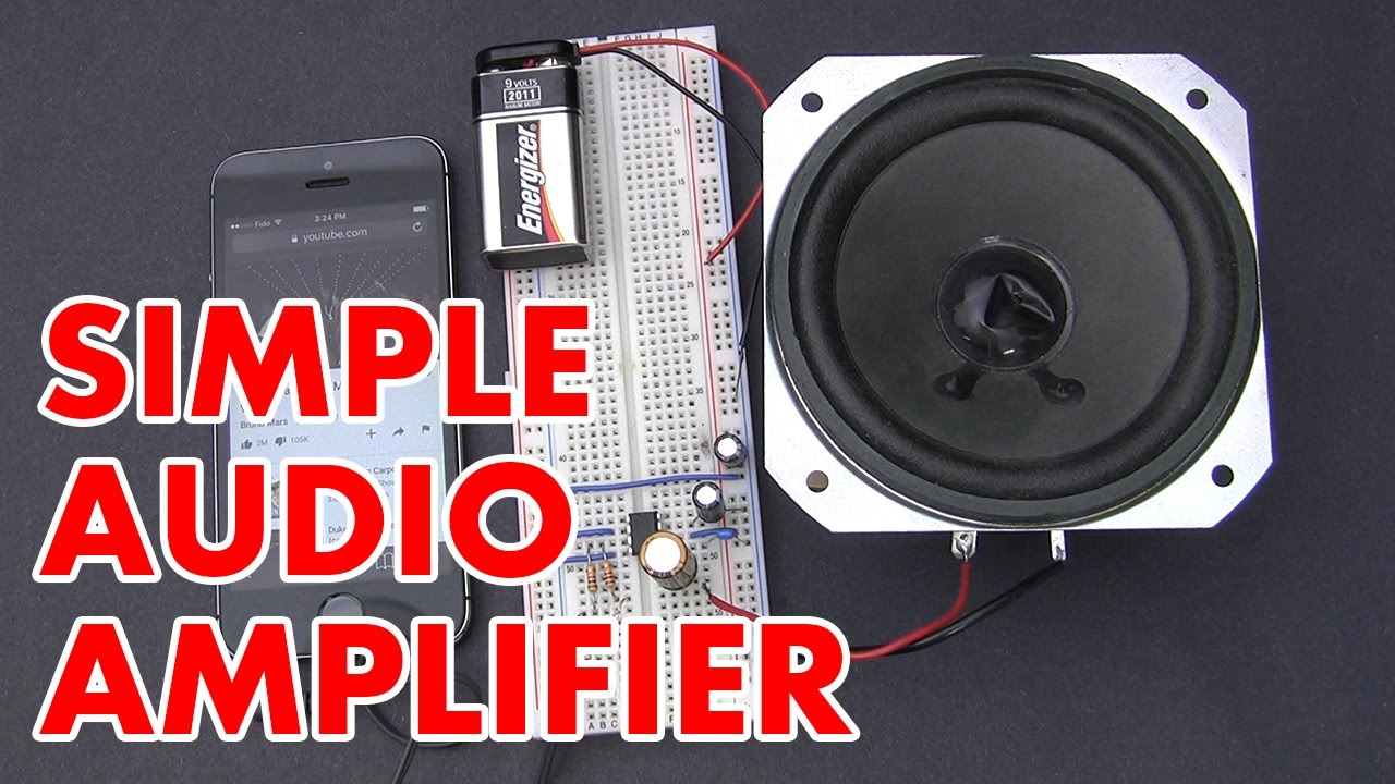 How to make an LM386 audio amplifier circuit  YouTube