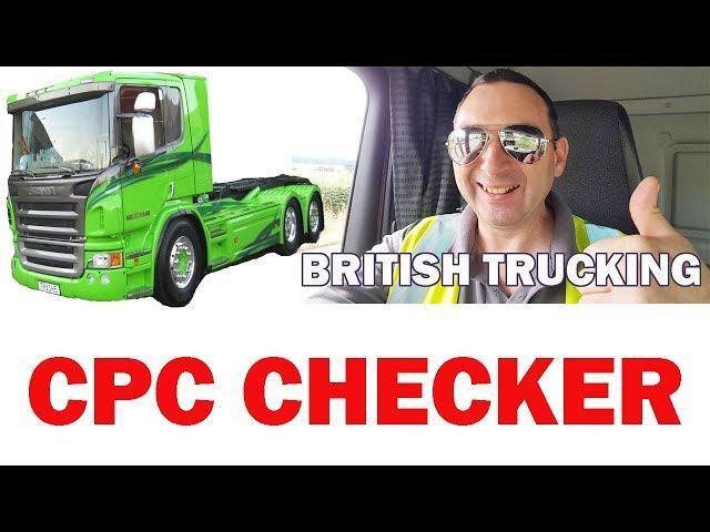 HGV Drivers CPC Checker