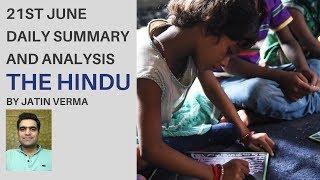 21st June The Hindu Daily Summary