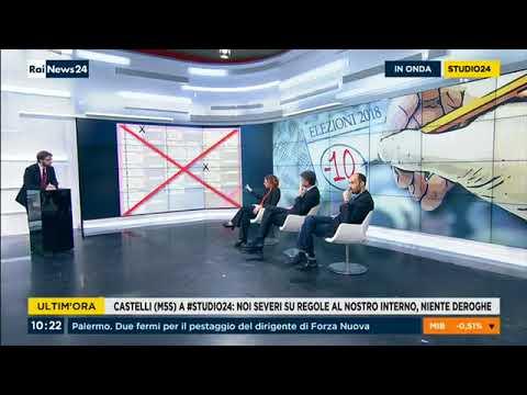 Laura Castelli (M5S) a RaiNews24 22/2/2018