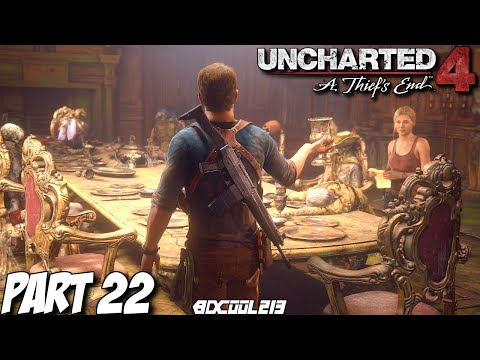 Uncharted 4 Gameplay Walkthrough Part 22 Battle at Avery's Mansion - PS4 Let's Play