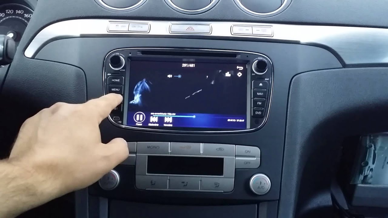ford s max av7 android radio ger t convers youtube. Black Bedroom Furniture Sets. Home Design Ideas