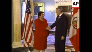 Peruvian PM meets US Secy of State