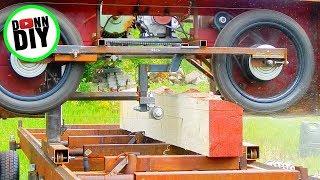 Sawmilling Spruce - Band Sawmill Build #22