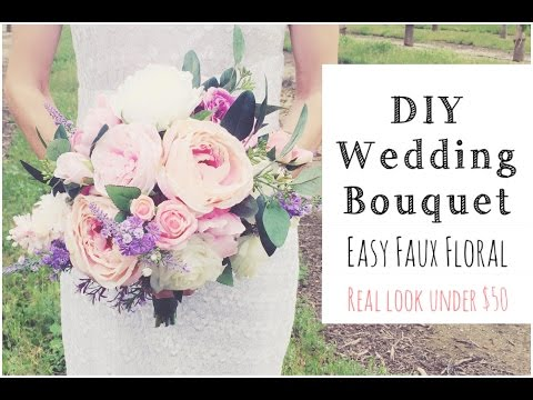 how-to-make-a-wedding-bouquet-|-diy-real-look-faux-floral-bouquet