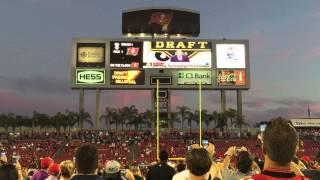Crowd reaction at Raymond James Stadium when Tampa Bay Buccaneers Pick Jameis Winston