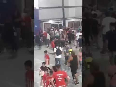 Batalla campal en una liga de fútbol infantil