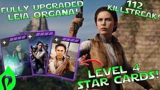 Star Wars Battlefront 2: Fully Upgraded Leia Organa Gameplay/ 112 Killstreak!!!
