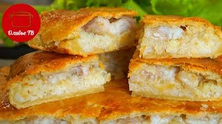 Пирог Рыбный с Рисом! Я полюбила рыбу после него!