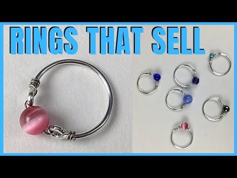 Wire Rings to Make and Sell DIY Jewelry Making Tutorial