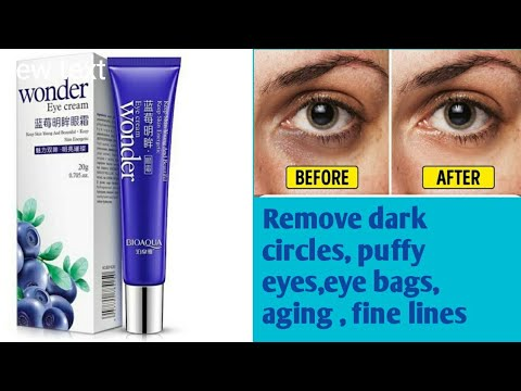 Wonder Eye Cream Gel Review Remove Dark Circles Reduce Puffy Eyes Eye Bags Aging Fine Lines Youtube