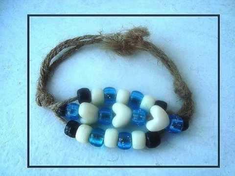 MAKE A 3 CORD BRACELET, easy jewelry, group activity, kid crafts, hemp, jute