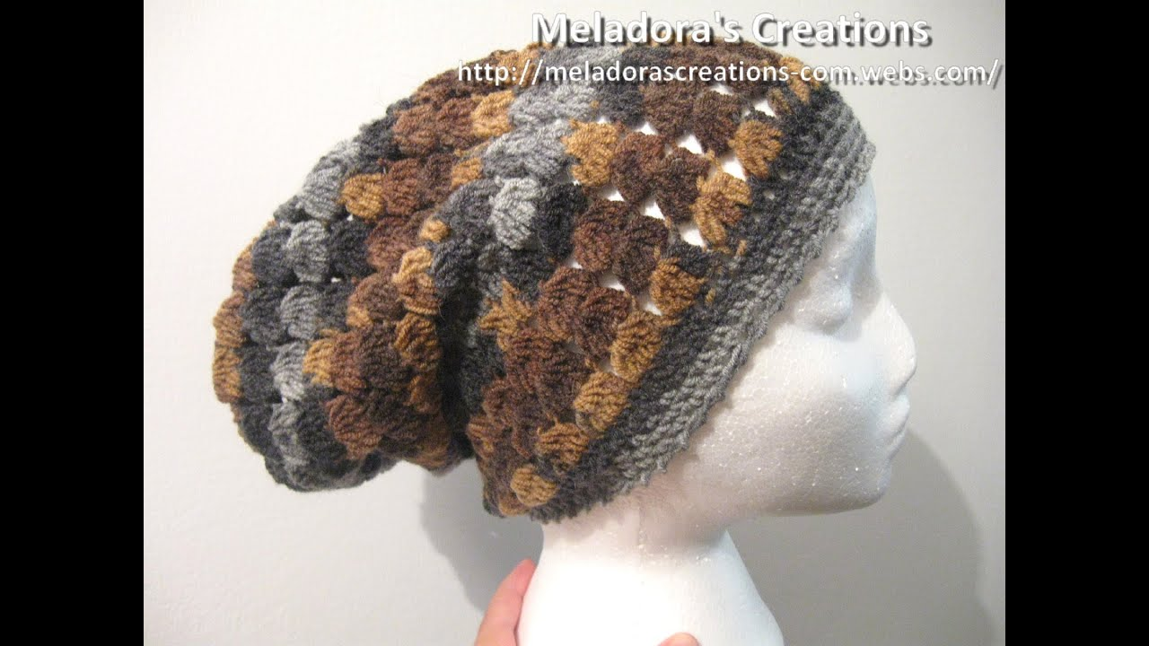 3d1cdad7283 Cluster Stitch Slouch Hat - Crochet Tutorial. Meladora s Creations for  Crochet