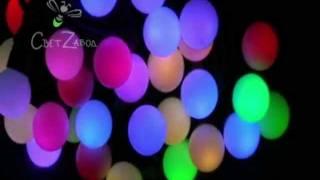 видео Гирлянда мультишарики LED RGB