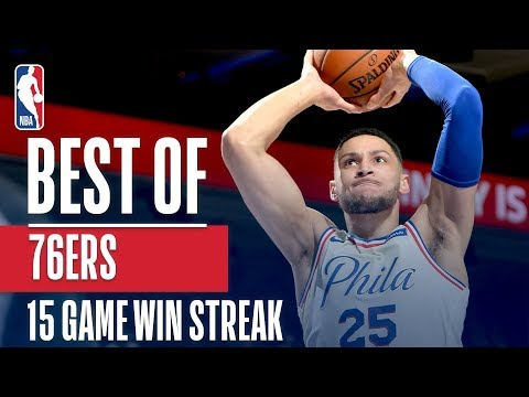 Sixers Best Play From Each Of Their Franchise Record Setting 15 Straight Wins!