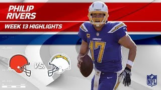 Philip Rivers Gets the Win w/ 344 Yards vs. Cleveland!   Browns vs. Chargers   Wk 13 Player HLs