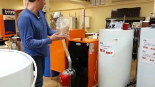 Гранульная пеллетная горелка Ferroli SUN P7 (Фероли)  для твердотопливных котлов, видео обзор