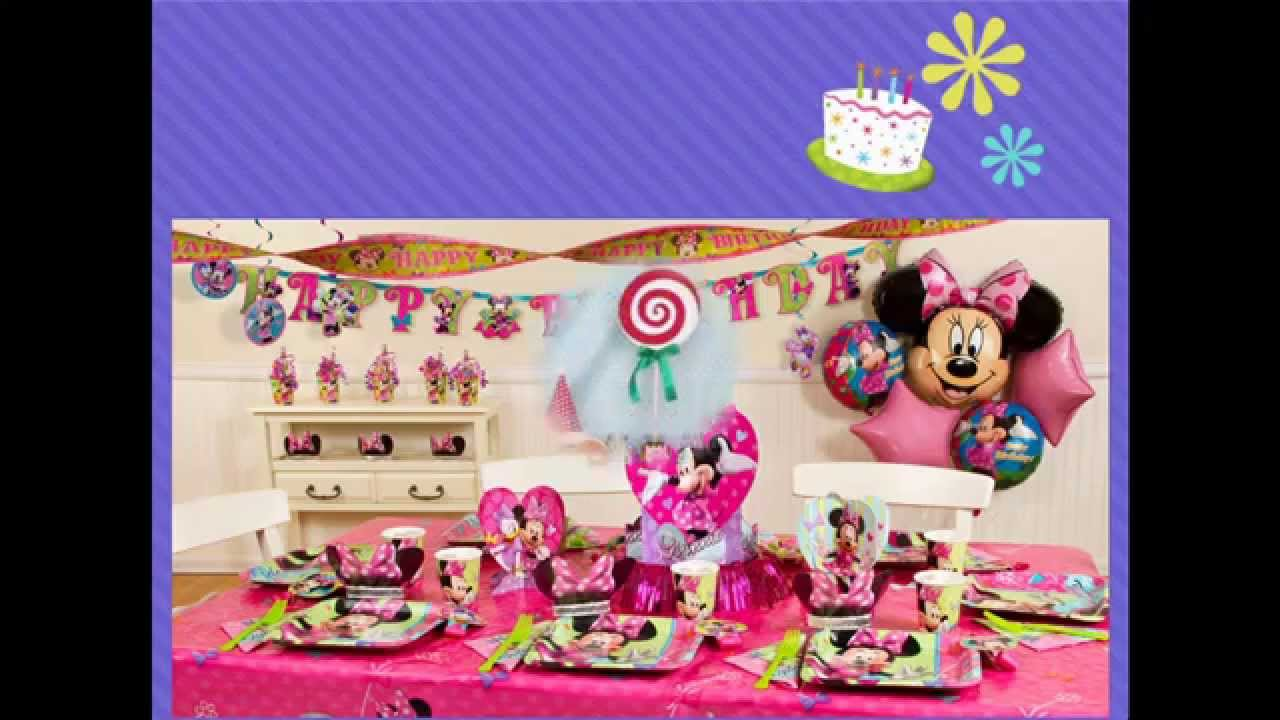 At home 1st birthday party ideas for girls youtube for 1st birthday party decoration ideas at home