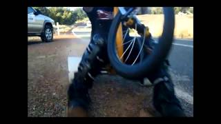 DTS camera woman hit by drift trike at 65km/hour