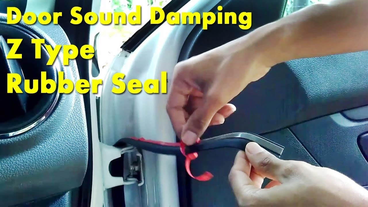9d10519568bc9 Car Door Sound Damping With Z Type Rubber Seal DIY- Renault KWID ...