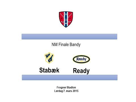 NM Finale Bandy 2015: Stabæk - Ready (4-6)