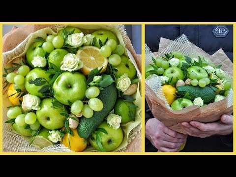 Как крепить виноград в фруктовый букет