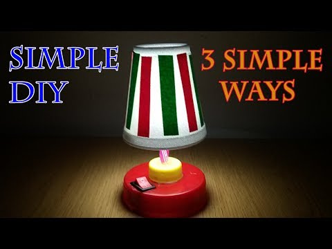 How to Make Small Table Lamps, Bedroom Lamps, Desk Lamp, Mini Lamp, Table Light, usa