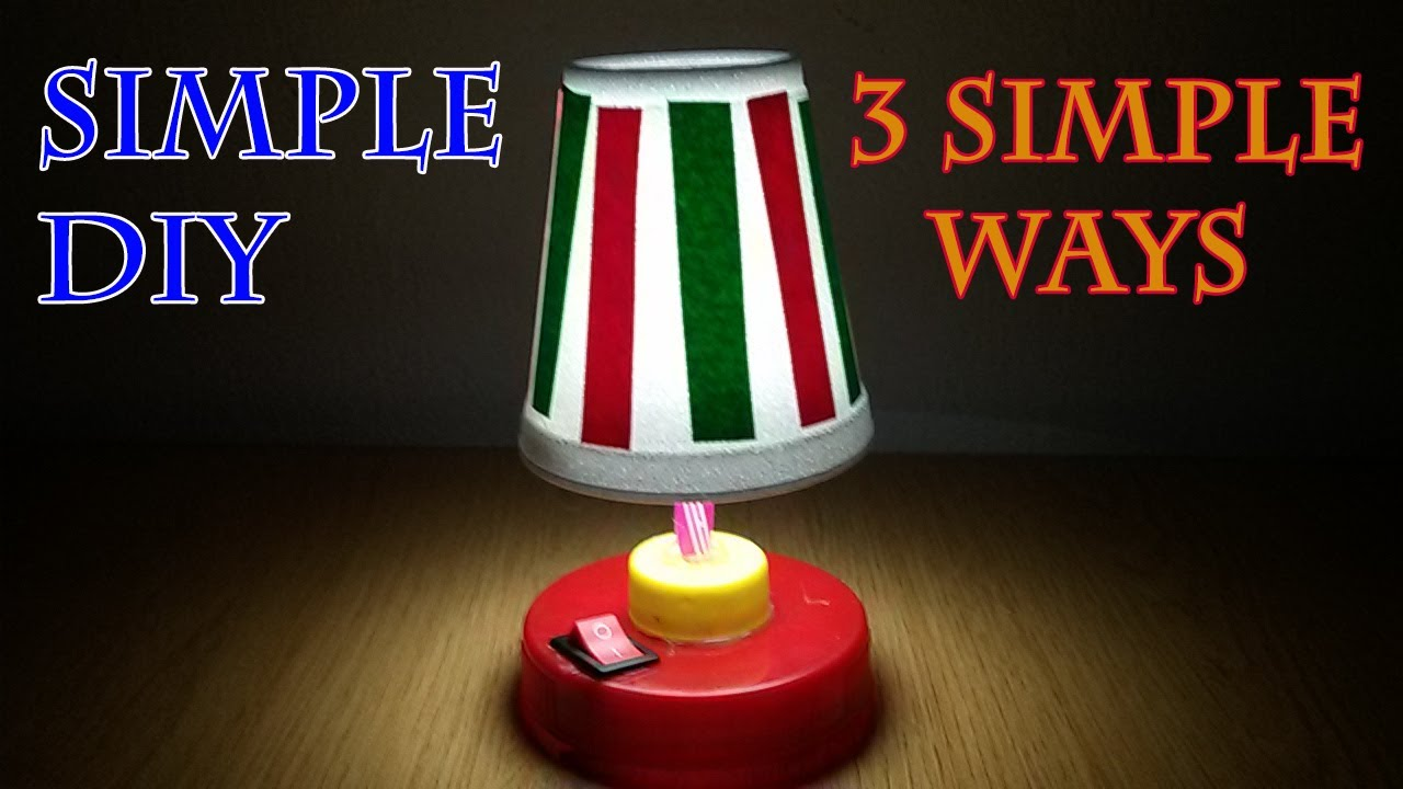 How to Make Small Table Lamps, Bedroom Lamps, Desk Lamp, Mini Lamp ...