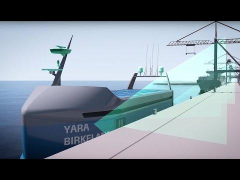 YARA Birkeland zero emission autonomous container feeder