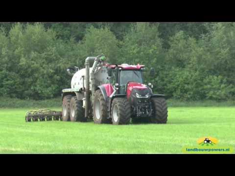 Nieuwe Case IH Optum 270 CVX met Joskin tank bij loonbedrijf Vink BV