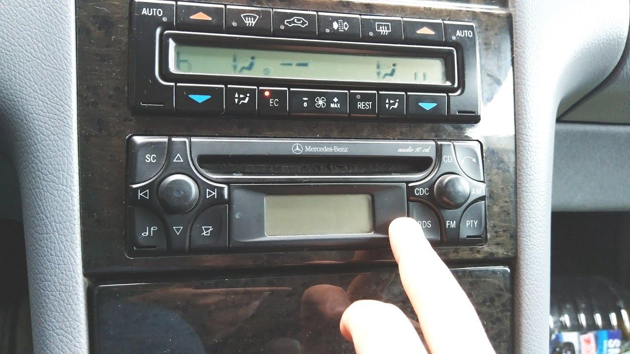 код разблокировки радио на мерседес