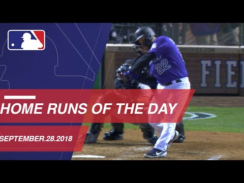 Watch all the home runs from September 28, 2018