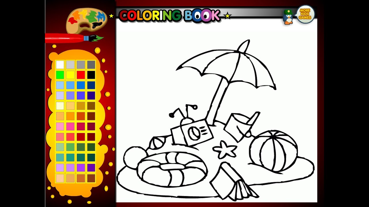 summer coloring pages for kids summer coloring pages youtube