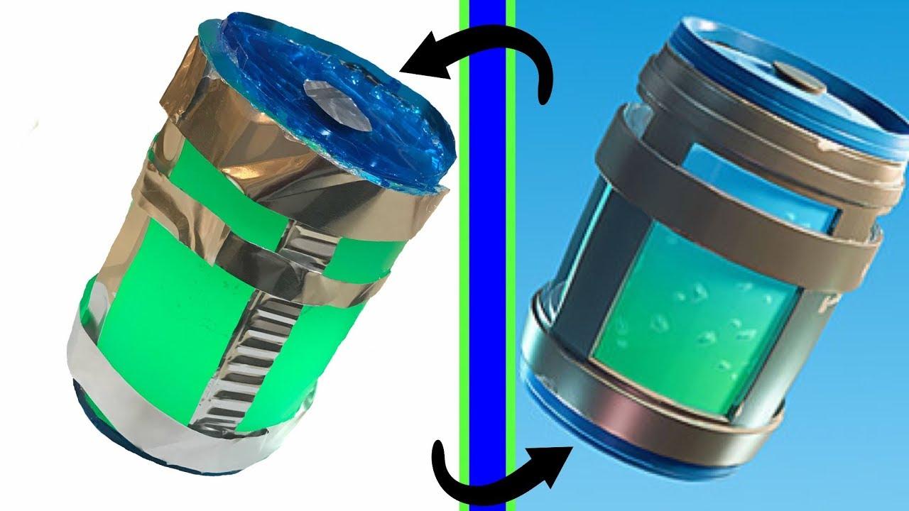 making a fortnite chug jug in real life - fortnite chug jug water bottle