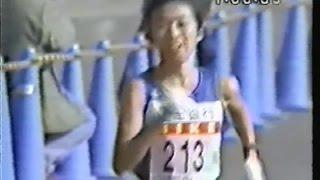 1994年東京シティーマラソン(ハーフマラソン)片岡純子さん、1時間08分...