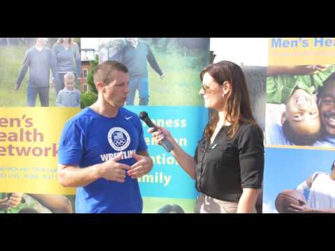 Ana Fadich, MPH, CHES interviews Rep. Markwayne Mullin (OK) during the Congressional Workout