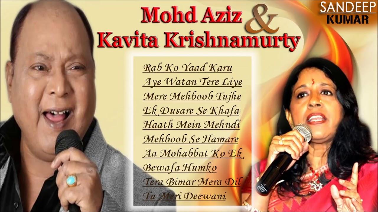 Best song of Mohammed Aziz & Kavita Krishnamurty || Evergreen Hindi Songs