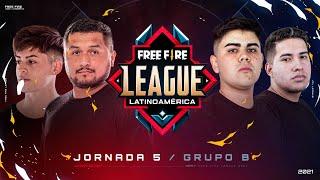 ¡Jornada 5 de la Free Fire League 2021! 🔥 | Grupo B - Apertura