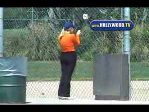EXCLUSIVE: Reese Witherspoon Goes To Kids Baseball Practice