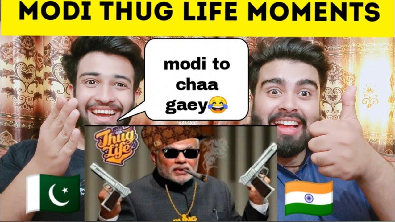Modi G thug life Part 1 reaction by | pakistani bros reactions |