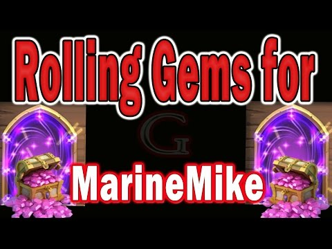 Castle Clash-Rolling Gems For Candy Kane On Marine Mike's Account