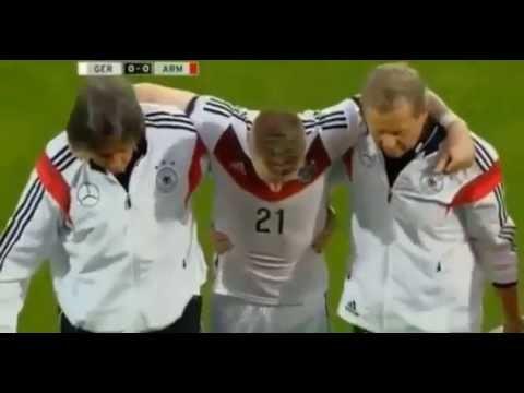 Jugada y lesion de Marco Reus de Alemania que puede dejarlo fuera del Mundial 2014